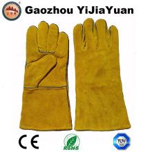 Kevlar Stiching guantes de cuero de soldadura