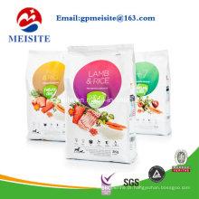 Saco de alimentos para animais de estimação com design personalizado de plástico
