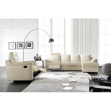 Genuine Leather Chaise Leather Sofa Electric Recliner Sofa (812)