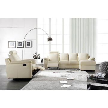 Sofá reclinável elétrico de sofá de couro genuíno em couro (812)