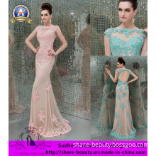 The Most Popular 2014 Pink Light Blue Lace Appliques Beads Noble Evening Film Dresses