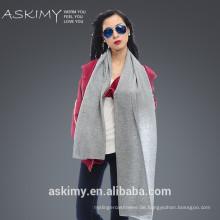 2015 neue Art und Weise 100% Wolle Schal stricken