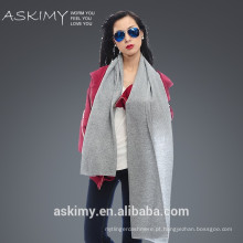 2015 moda nova 100% lã cachecol malha