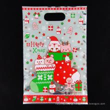 Christmas Plastic Gift Bag with Handle