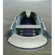 barco a remos barco de pesca inflável HH-F270 CE com chão de ripas