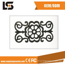 Diseñada para diseños de puertas de casas Valla para barandas de acero estampado de acero forjado