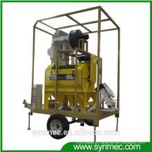 Máquina de limpeza e processamento de sementes móveis para feijão de milho de gergelim