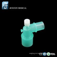 Winkelstecker für Anästhesie-Atemkreislauf