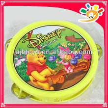 Lovely Cartoon Plastic Tambourine Hand Bell Toy For Kids