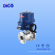 Electric Actuator Stainless Steel Flange Ball Valve