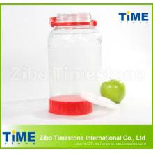 Tarro de cristal caliente de la venta con la tapa plástica