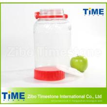 Vente chaude bocal en verre avec couvercle en plastique