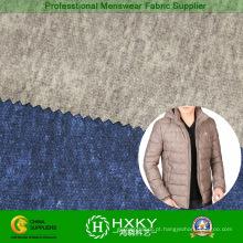 100% poliéster imprimiu a tela de memória para o vestuário de inverno Men′s