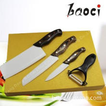 High Quality! Ceramic Knife & Peeler Set with Wooden Handle