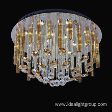 decoration home ceiling light led chandelier with gold color