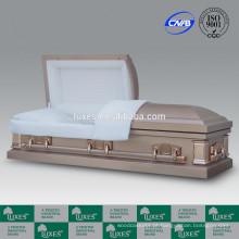 LUXES atacado estilo americano Metal caixões para cremação
