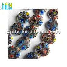 perles de yiwu en gros, perle de verre millefiori, perle de chevron