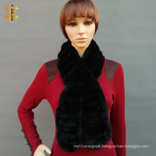Lady Scarf Wholesale 2016 Hot Selling Black Rabbit Fur Scarf
