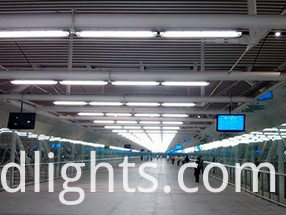 LED tube walkway