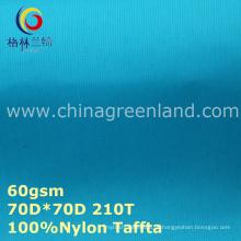 Tecido de tafetá de nylon impermeável para vestuário forro de rede (gllml267)