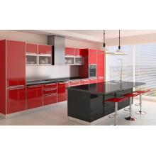 Gabinete de cozinha acrílica estilo forro