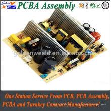 carte de relais de bâti de carte PCB avec le masque noir de soudure, le PCb de carte PCB de contrôle d'accès et l'assemblée de pcba