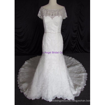 Beautiful Sweetheart Lace Appliqued Crystal Wedding Gowns