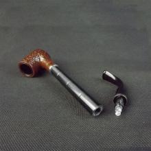 Hecho a mano de ébano largo hizo pipa de fumar barato