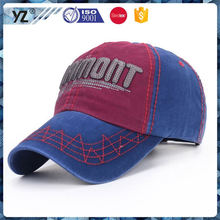 Hot promotion unique design 100% brush cotton baseball caps 2015