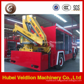 HOWO 4X2 Multi-Function Fire Truck with Lifting Crane
