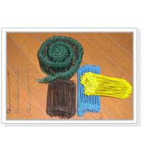 Lazos de plástico de la bolsa de alambre recubierto