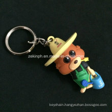 Custom 3D Cartoon Figure Rubber Key Ring for Promotion Gifts