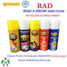 400ml China Supplier Rad Leer un insecticida Dream insecticida Spray de control de plagas