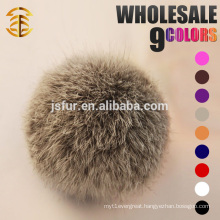 2017 Factory wholesale custom christmas key chains ball rabbit fur balls