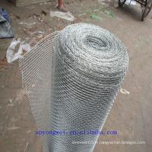 Une grille de fil métallique galvanisée