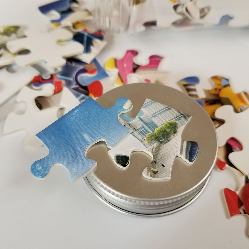Jigsaw Puzzle With Plastic Bottle