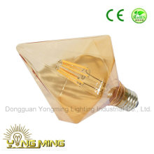 CE Approval Sharp Diamond LED Light Bulb with Gold Cover