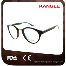 Lady shape combination acetate with metal optical frames & acetate eyeglasses eyewear