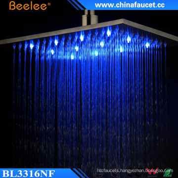 16′′ Luxury High Pressure Blacken LED Top Shower in Wall
