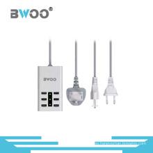 Cargador multifuncional USB de 6 puertos con conectores EU UK UK