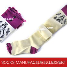 100% Cotton of Woman Coloful Tube Sock (UBM1047)