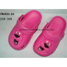Dernières conception EVA jardin chaussures pantoufles de mode pour les enfants (FBJ521-14)