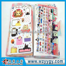 2013 fancy plastic lenticular printing sticker with cover for kids