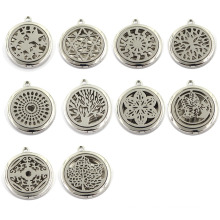 30mm Zinc Alloy Perfume Locket Fashion Silver Pendant