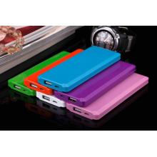 5000mAh thin portable power bank blue color