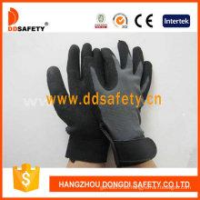 Tela elástica con guante de nitrilo negro-Dnn610