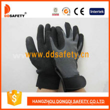 Stretch Fabric with Black Nitrile Glove-Dnn610