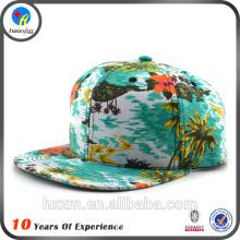 flat brim cap embroidery cap