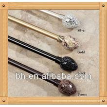 Mosaik Vorhang Rod und Finial Set, Glas Mosaik Dekorative Rod Set