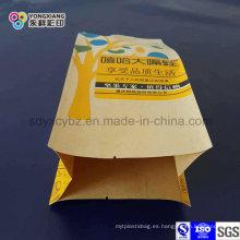 Papel Laminado 4-Side Sellado Snack Alimentos Embalaje de plástico Bolsa